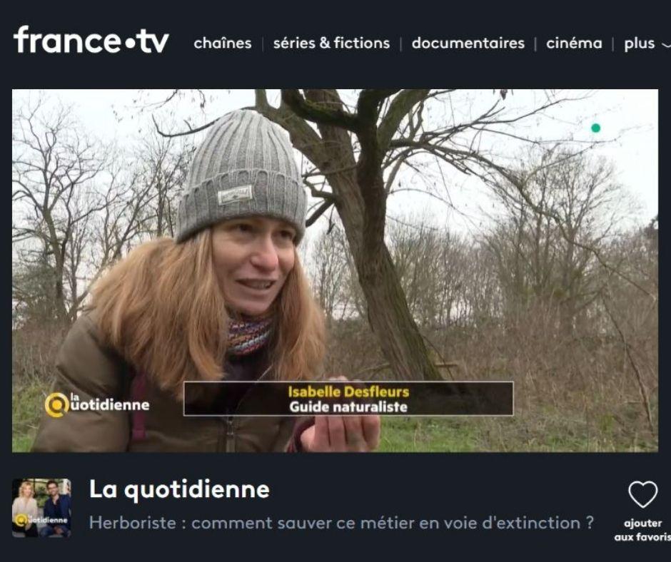 Isabelle Desfleurs_Emission TV Herboriste_France 5_La Quotidienne